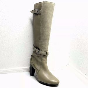 Cole Haan Tall Knee High Heel Boots Leather